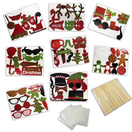 Christmas Dressing Up Ideas (Christmas Dressing Up For A Photo Of The Party Paper Beard,)