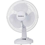 PowerZone Desk Fan, Pp Blade, 40 W, 120 V, 60 Hz, 3 Speeds, 12 In W