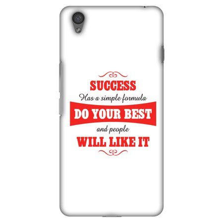OnePlus X Case - Success Do Your Best, Hard Plastic Back Cover. Slim Profile Cute Printed Designer Snap on Case with Screen Cleaning