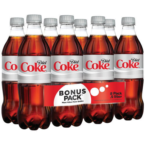 Diet Coke Cola, 0.5 l, 8 pack