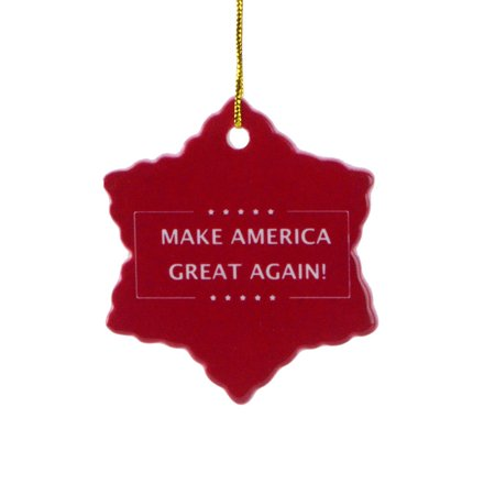 President Donald J Trump Make America Great Again Xmas Tree Ornament Gift Topper