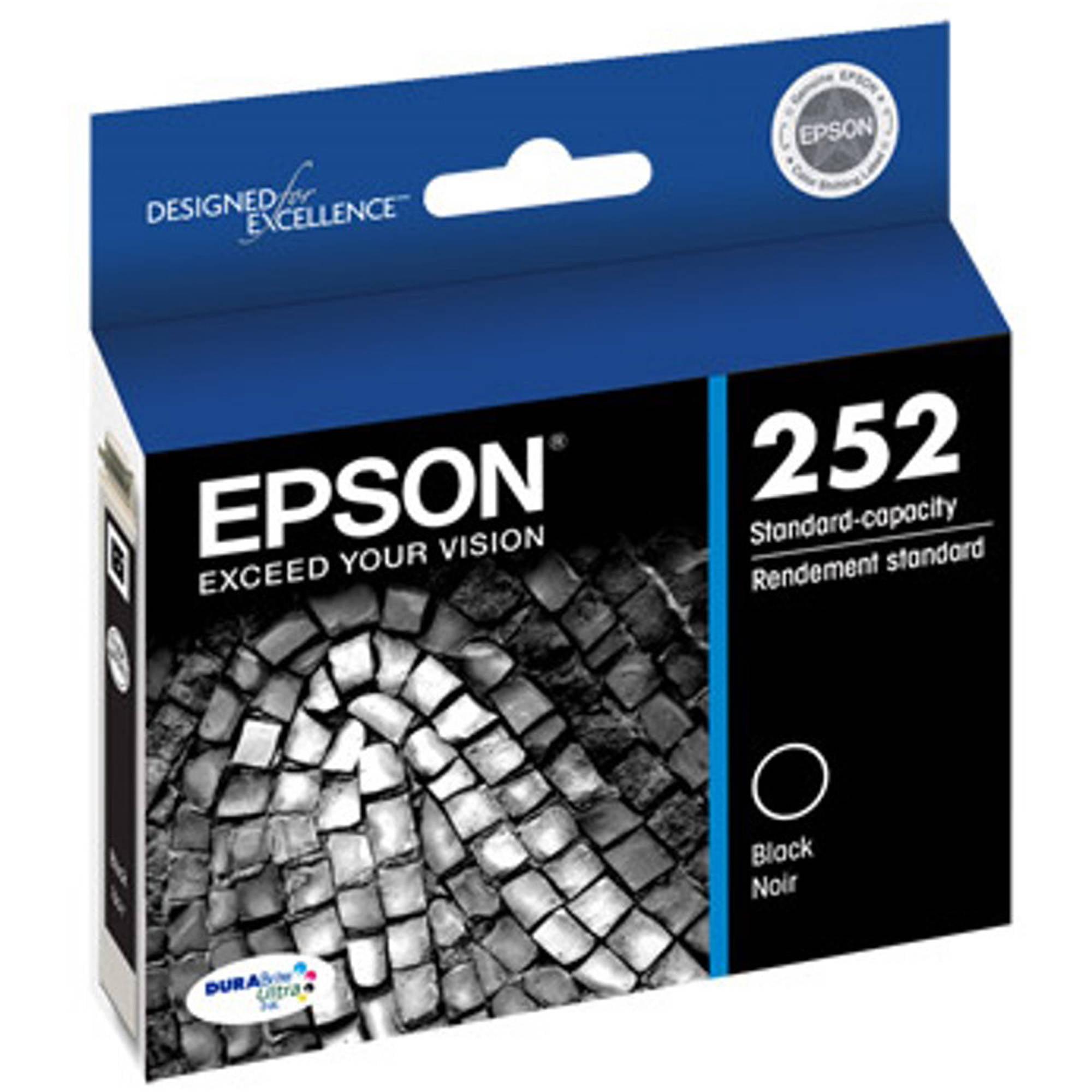 Epson T252 Standard-Capacity Black Ink Cartridge