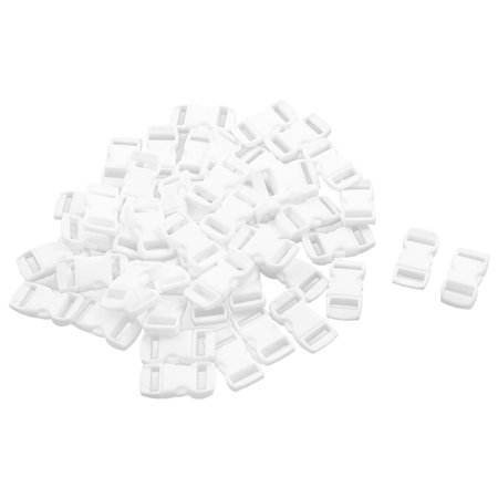 Plastic Adjustive Side Quick Release Buckles White 12mm Strap Width 50 Pcs