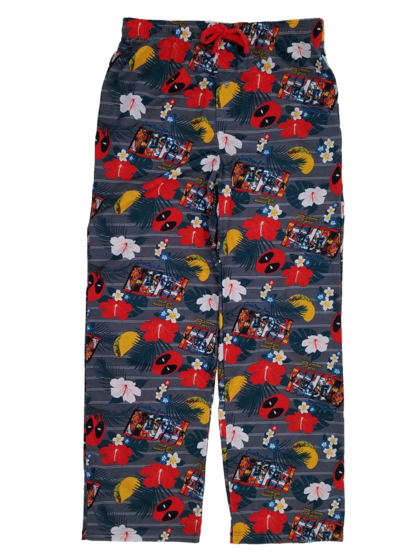 Marvel Marvel Mens Tropical Vacation Deadpool Sleep Pants Pajama Bottoms Walmart Com Walmart Com
