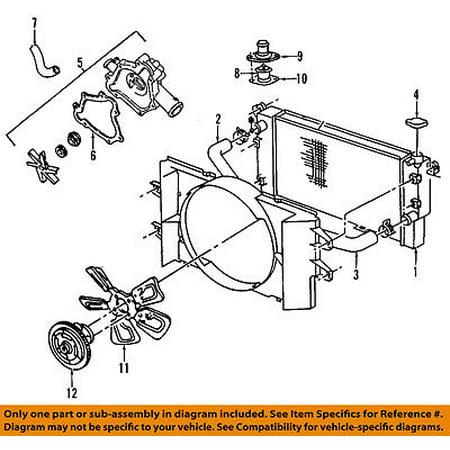 dodge chrysler oem 02-03 ram 1500-engine cooling radiator fan clutch  68064767aa - walmart com