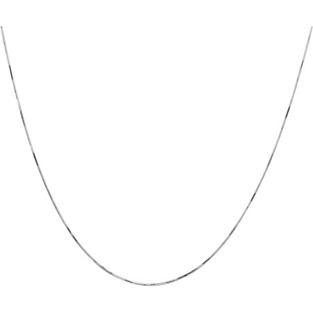 Eternity Gold Classic Snake Chain Necklace in 10kt White Gold, 16