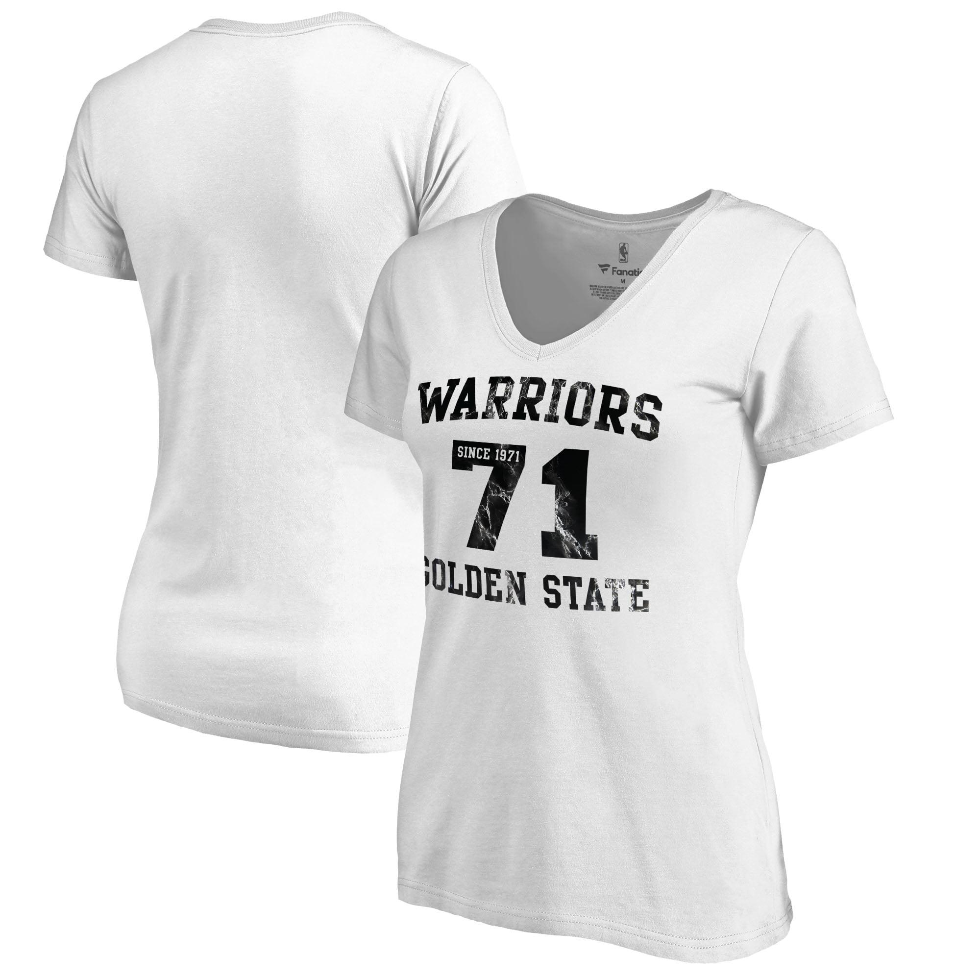 Golden State Warriors Fanatics Branded Women's Hang Time Plus Size V-Neck T-Shirt - White
