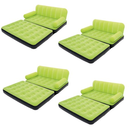 Bestway Multi-Max Air Couch With Sidewinder AC Air Pump - Green | 10026 (4 (Best Way To Hang Xmas Lights Outside)