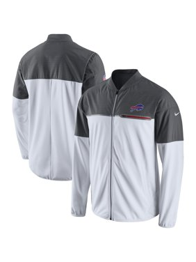 Product Image Men s Nike White Gray Buffalo Bills Champ Drive Flash Hybrid  Full-Zip Jacket 77bbc2c9f