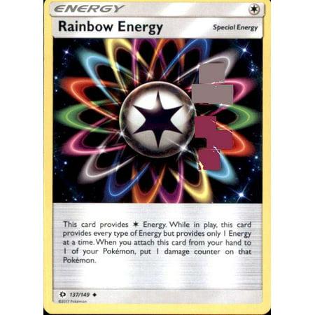 Pokemon Sun & Moon Base Set Rainbow Energy #137