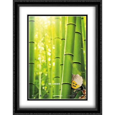 The Lego Ninjago Movie 28x36 Double Matted Large Large Black Ornate Framed Movie Poster Art Print (Ninjago Black)