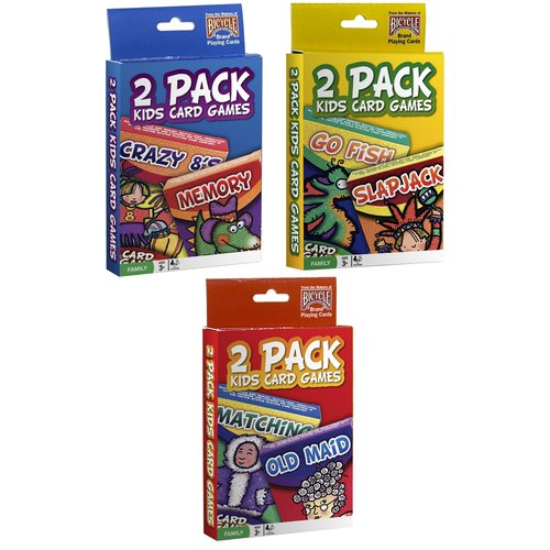 United States Playing Cards 1023757 Classic Kids Card Games Assorted Games 2 Pack