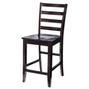 Sturdy Dining Chairs Counter Height-Finish:Cappuccino,Quantity:2 Piece