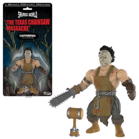 Action Figure Toy - Horror - Savage World - Texas Chainsaw Massacre- Leatherface Action Figure Chainsaw