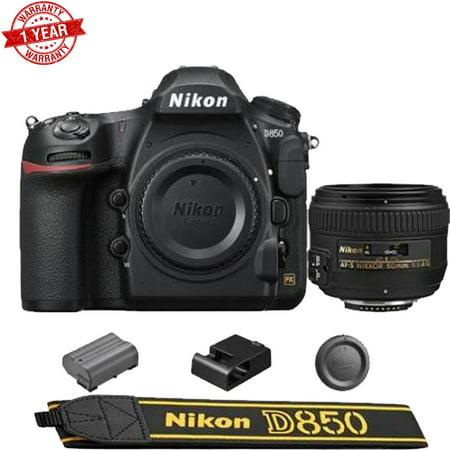 Nikon D850 DSLR Camera + AF-S NIKKOR 50mm f/1.4G Lens