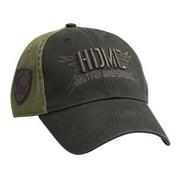Mens Military Skull Embroidered HDMC Baseball Cap, Black BC12894