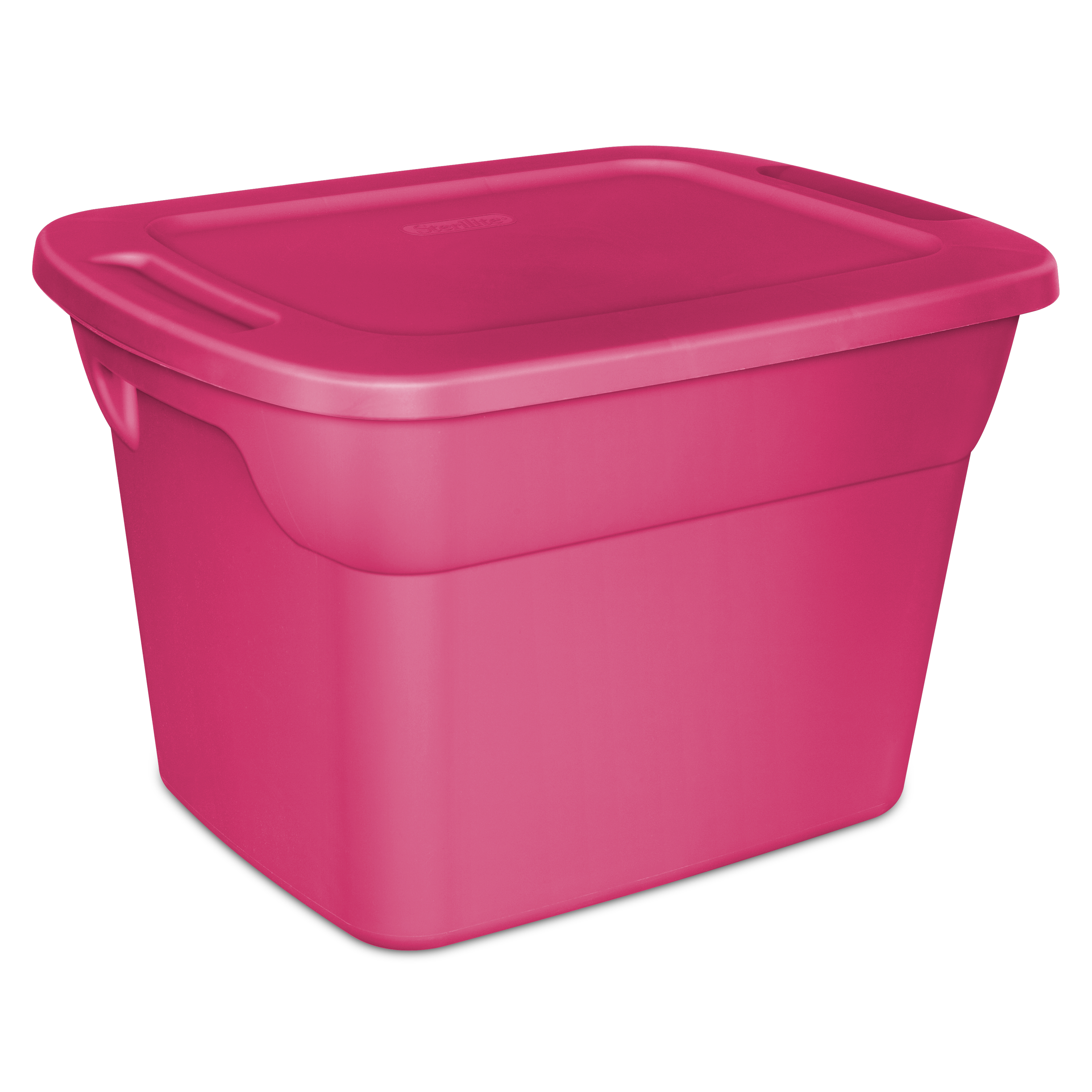 Sterilite 18 Gal./68 L Tote Box, Fuchsia Burst (Available in a Case of 8 or Single Unit)