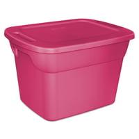 Sterilite 18 Gal./68 L Tote Box, Fuchsia Burst (Available in a Case of 8 or Single Unit)