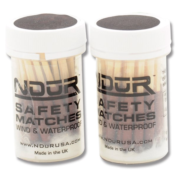 NDUR- Safety Matches Clear Tube-2 Pk