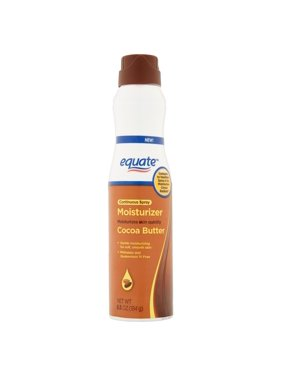 Equate Cocoa Butter Moisturizer Continuous Spray, 6.5 Fl Oz