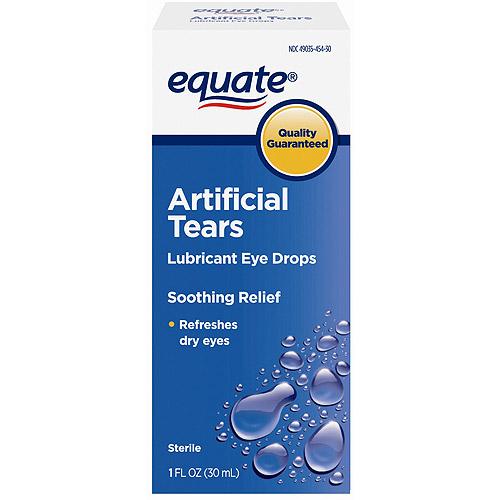 Equate: Sterile Artificial Tears Lubricant Eye Drops, 1 fl oz