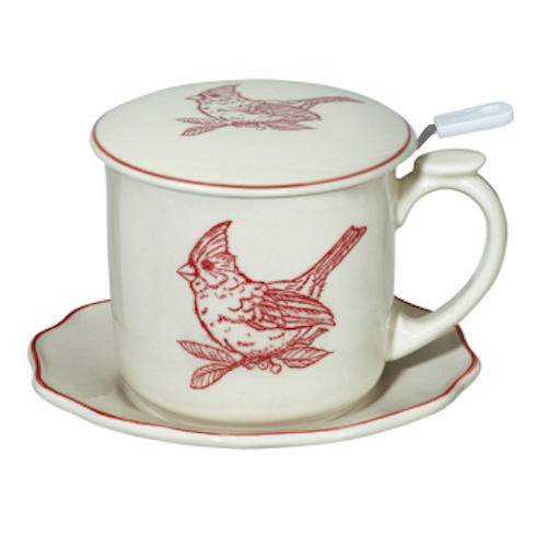 Andrea by Sadek - 10 oz.. Covered Tea Set - Red Cardinal