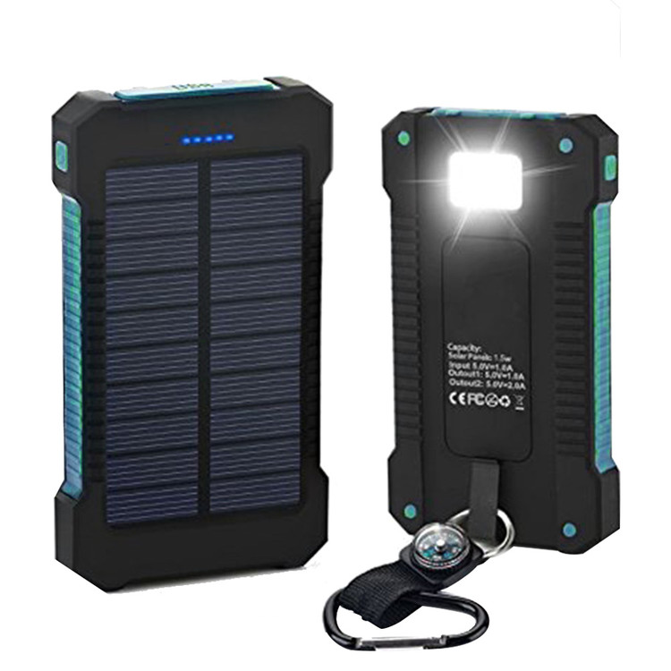 300000mAh Dual USB Portable Solar Battery Charger Solar Power Bank High Capacity Environmentally-friendly by OUTAD