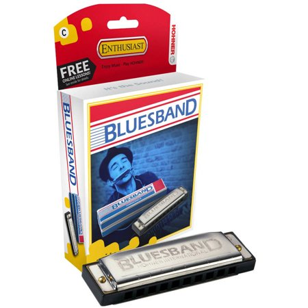 Hohner 1501BXC Blues Band, Harmonica, C (Hohner Piedmont Blues 7 Harmonica Pack With Case)