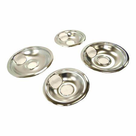 - AO68C Universal Electric Range Chrome Reflector Bowls Drip Pan Set