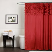 Red And Gold Shower Curtain. Lillian Shower Curtain Red Curtains  Walmart com