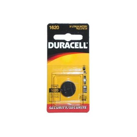 2 Pack Duracell 1620 3V Lithium Button Cell Watch/Electronic Coin Battery ()