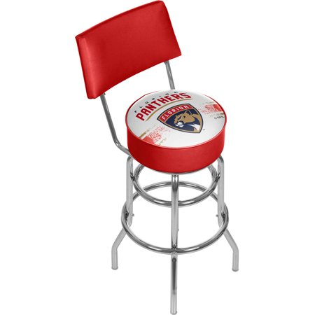 NHL Swivel Bar Stool with Back, Florida Panthers by