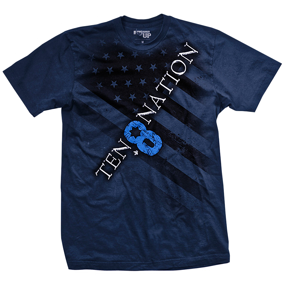 Ranger Up 10-8 Nation T-Shirt - Blue
