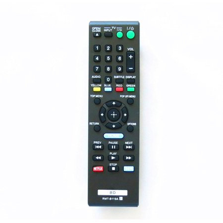 Remote Viewer - New RMT-B119A Replaced Remote for Sony BD Blu-Ray Players DVD LCD/LED TVs