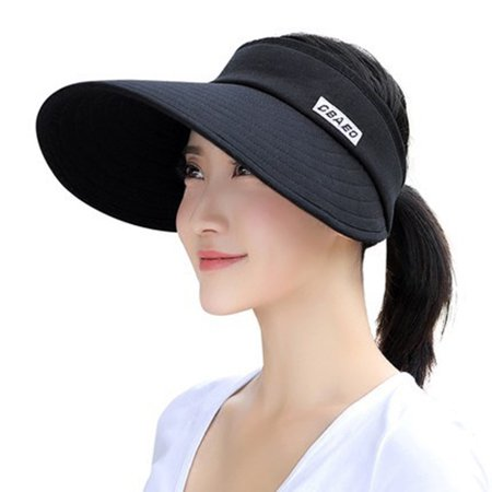 Columbia Cotton Hat - Sun Hat, Coxeer Sun UV Protection Wide Brim Foldable Cotton Summer Hat Beach Visor Cap with Chin Strap for Outdoor Activities Riding for Women Girl