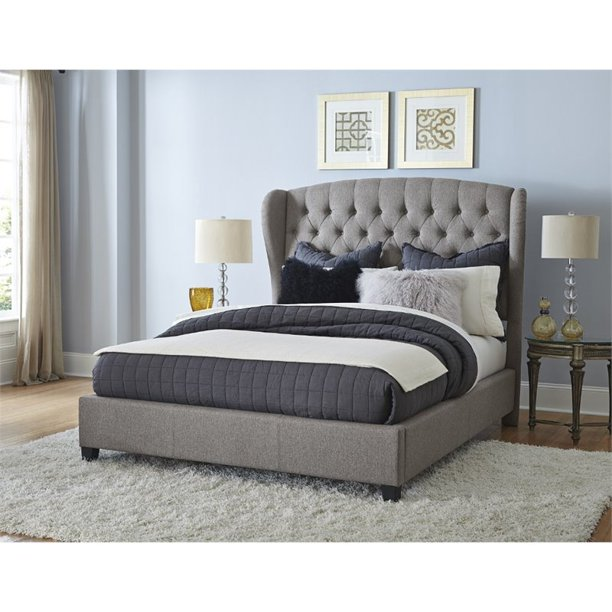 Hillsdale Furniture Bromley King Upholstered Bed, Orly Gray