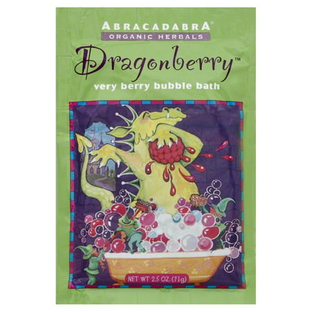 Abracadabra Organic Herbals Bubble Bath, Dragonberry Very Berry, 2.5 (Organic Herbal Bath Bags)