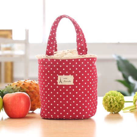 Thermal Insulated Lunch Box Cooler Bag Tote Bento Pouch Lunch Container RD ()