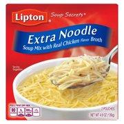 Lipton Soup Secrets Instant Soup Mix Extra Noodle 4.9 oz 2 Count