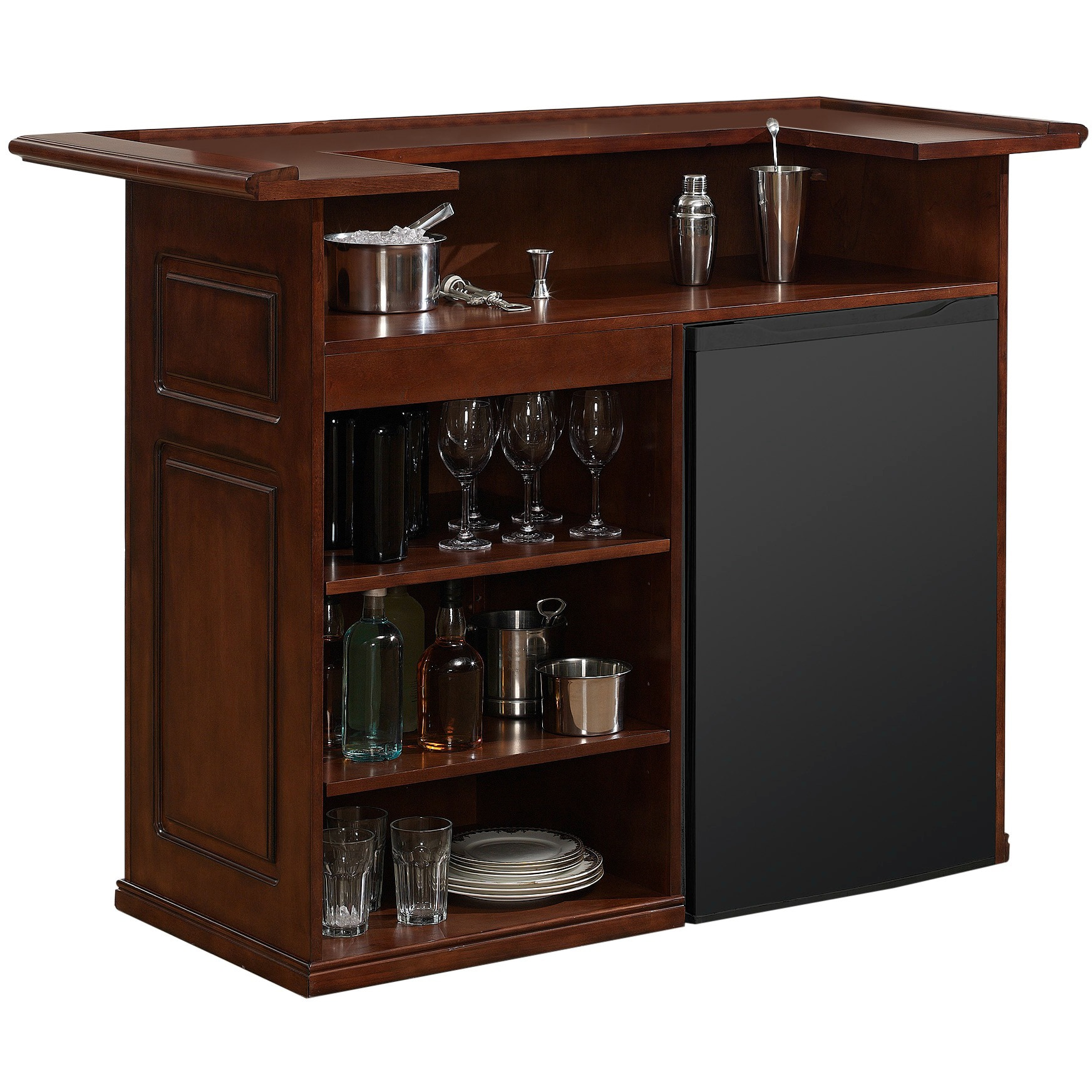 American Heritage Billiards Sanford 58-inch Brown Home Bar Space