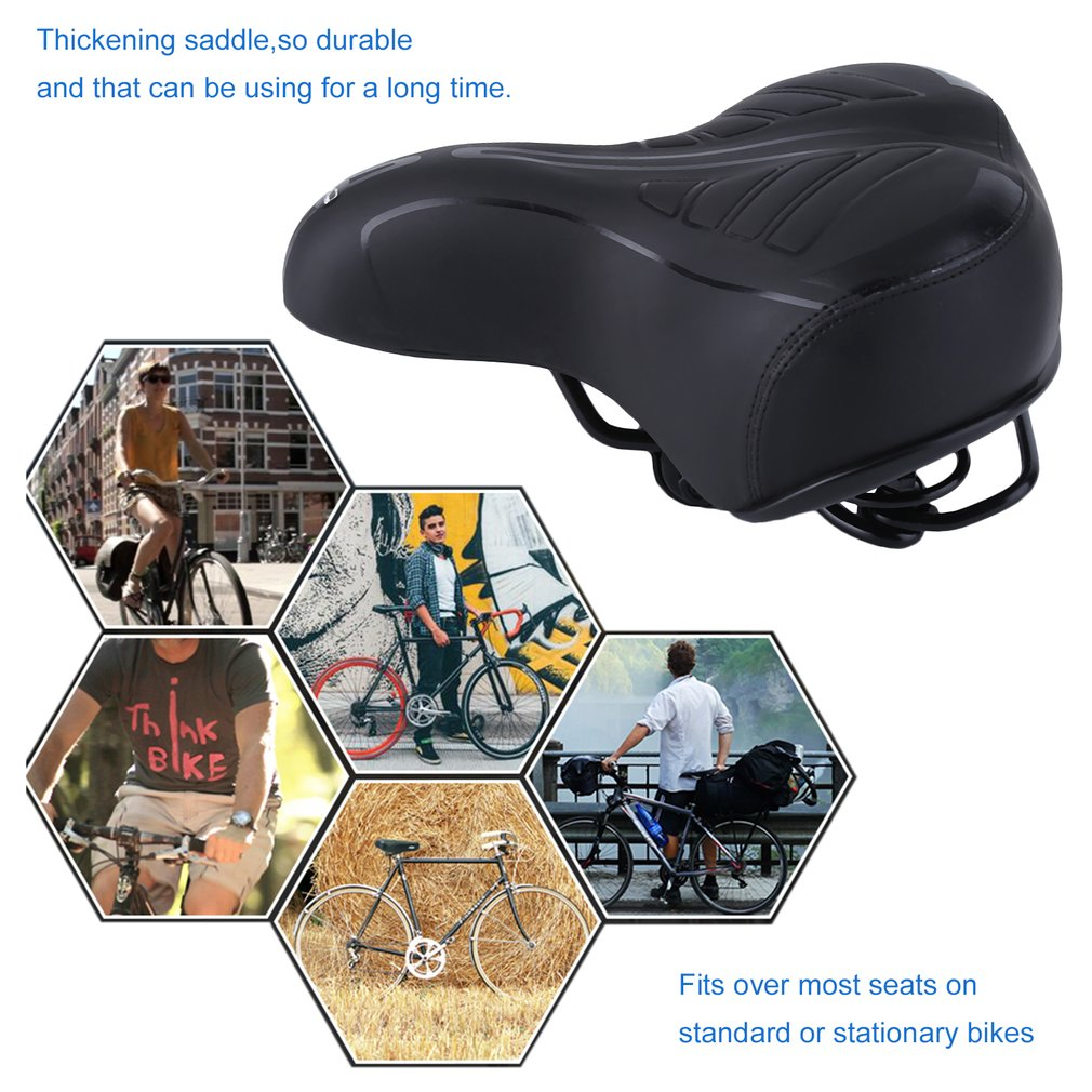 Artificial Leather Spring Shock Absorbing Mountain Bike Bicycle Cycling Saddle
