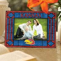 Kansas Jayhawks Art Glass Horizontal Picture Frame - No Size