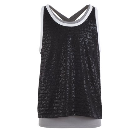 Girl's Twofer Cross Back Tank Top Calvin Klein Ribbed Tank Top