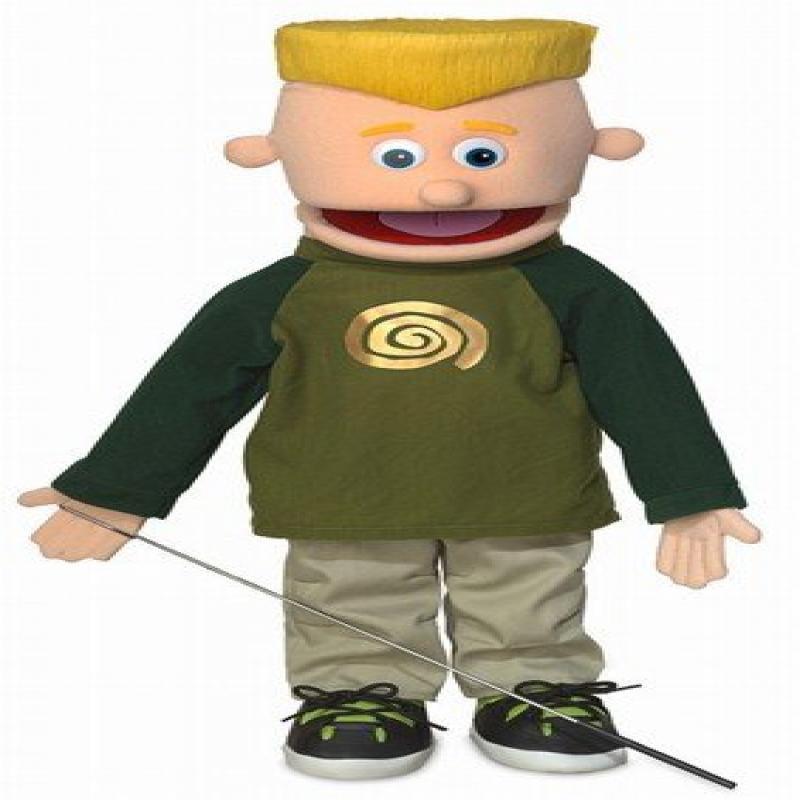 "Silly Puppets 25"" Eddie, Peach Boy, Full Body, Ventriloquist Style Puppet"