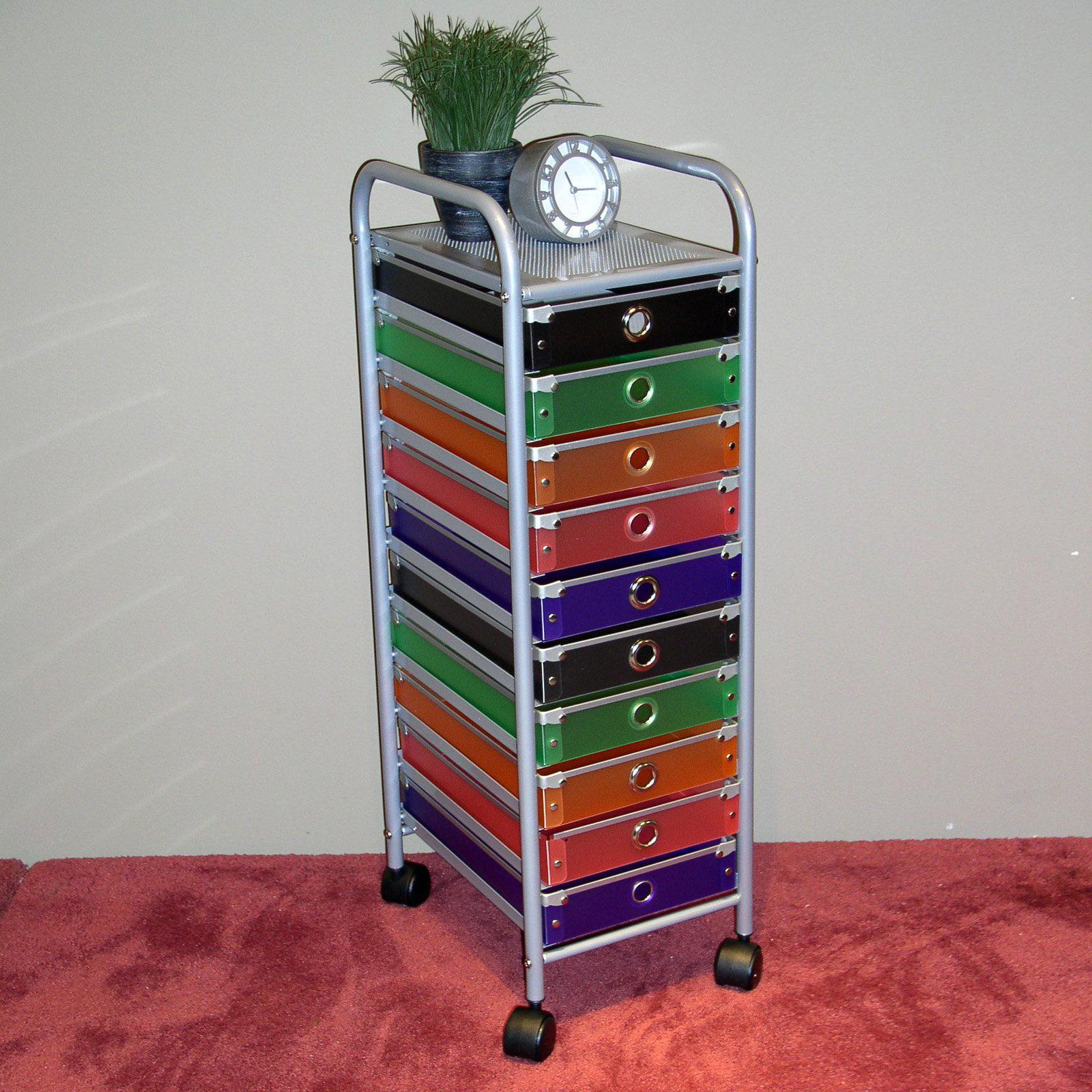 4D Concepts 10-Drawer Storage Unit, Multi-Color