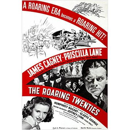 The Roaring Twenties Classic Movie Poster James Cagney B/W Photos 24X36 (Roaring Twenties Table Decorations)