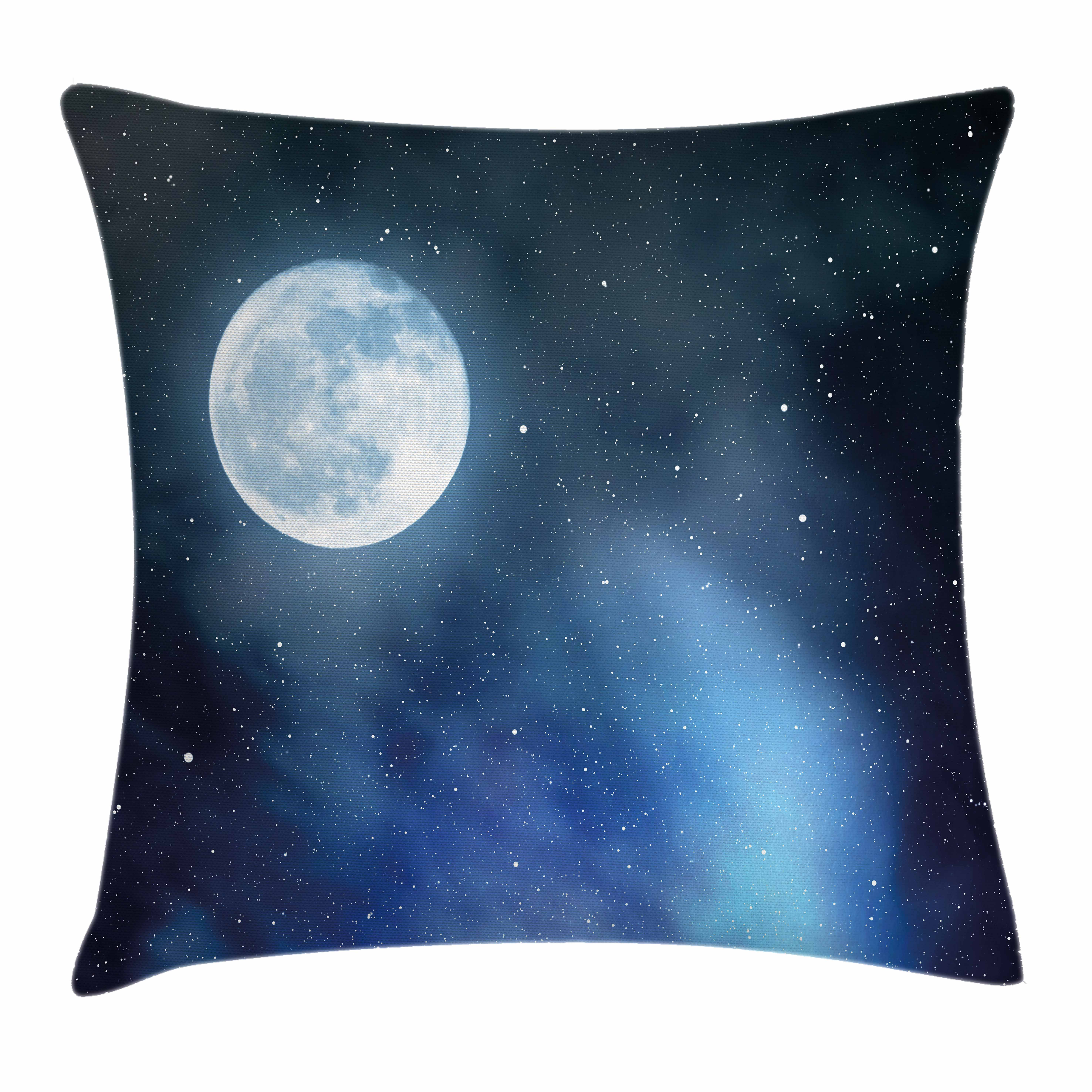 Moon Throw Pillow Cushion Cover Night Sky With Stars Full