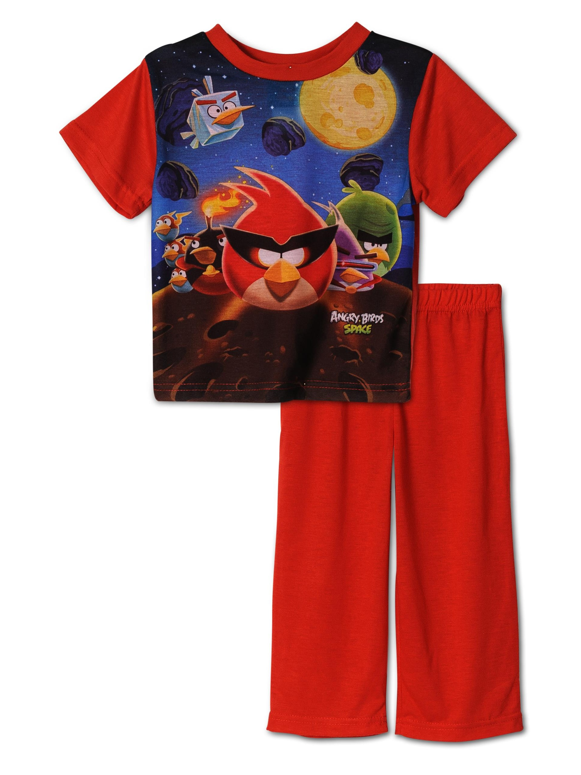 Angry Birds Space 2 Piece Boys Pajama Set , Toddler Sizes 2T-4T