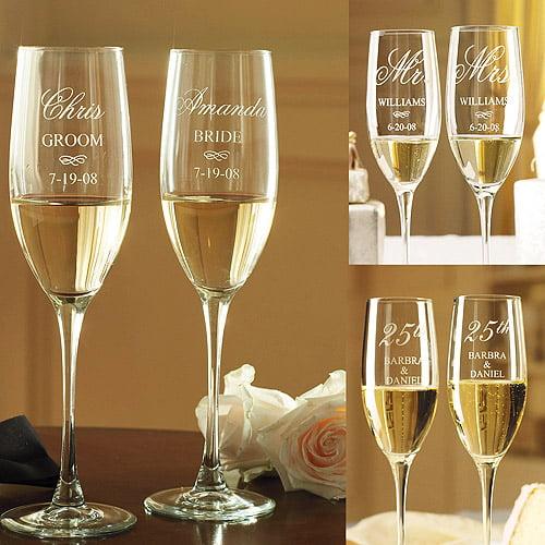 Personalized Anniversary Champagne Flutes Walmart Com