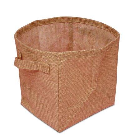 6ea - 9 X 7 X 9 Natural Burlap Storage Basket Width 9